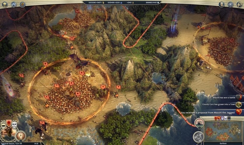 Gameplay rộng lớn của Age of Wonders 3