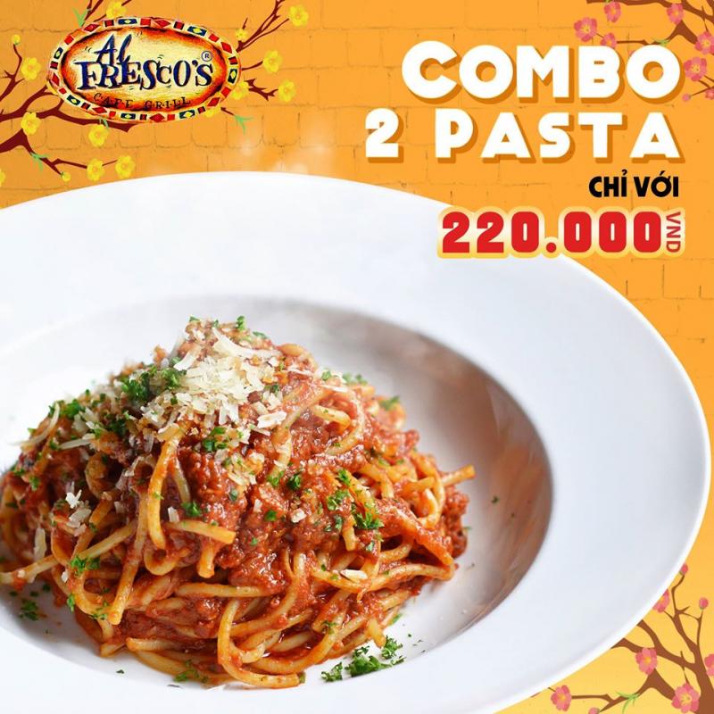 Những loại mì ý được bán tại Al Fresco's được chế biến theo ẩm thực châu Âu, được trình bày đẹp mắt