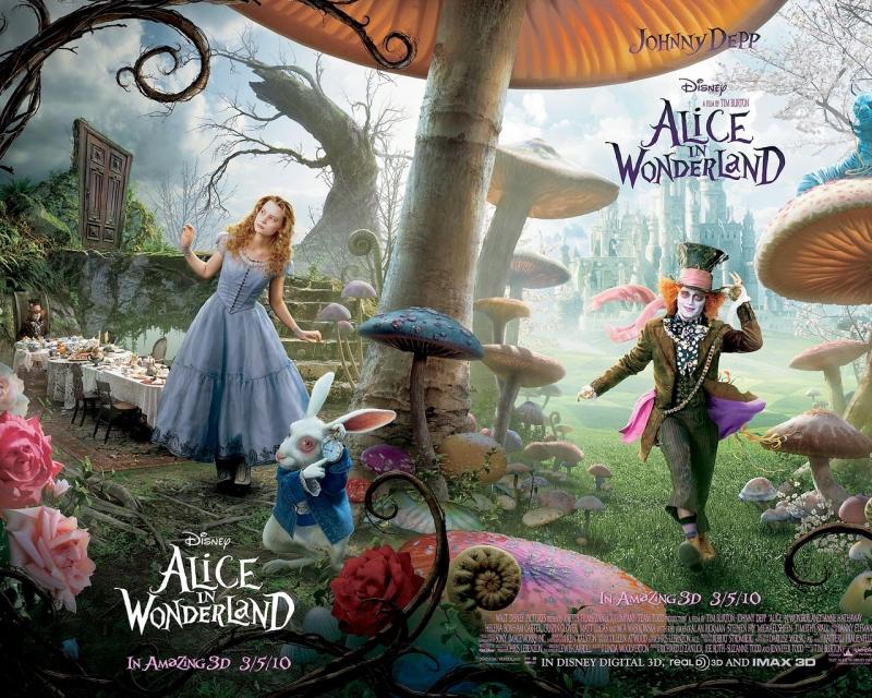 Áp phích tuyên truyền của Alice in Wonderland (2010)
