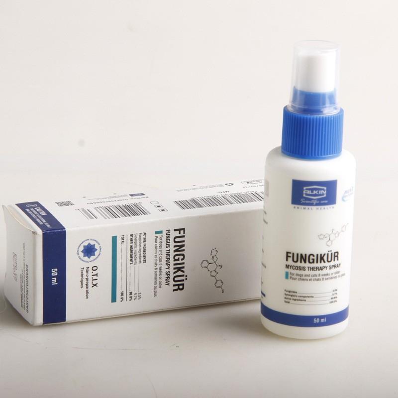 Alkin Fabricil Fungikur - Sản phẩm xịt trị nấm cho chó mèo