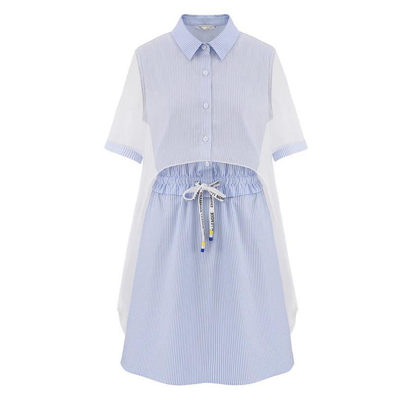 Đầm xanh da trời đậm chất Hàn Quốc thoải mái, nhẹ nhàng.