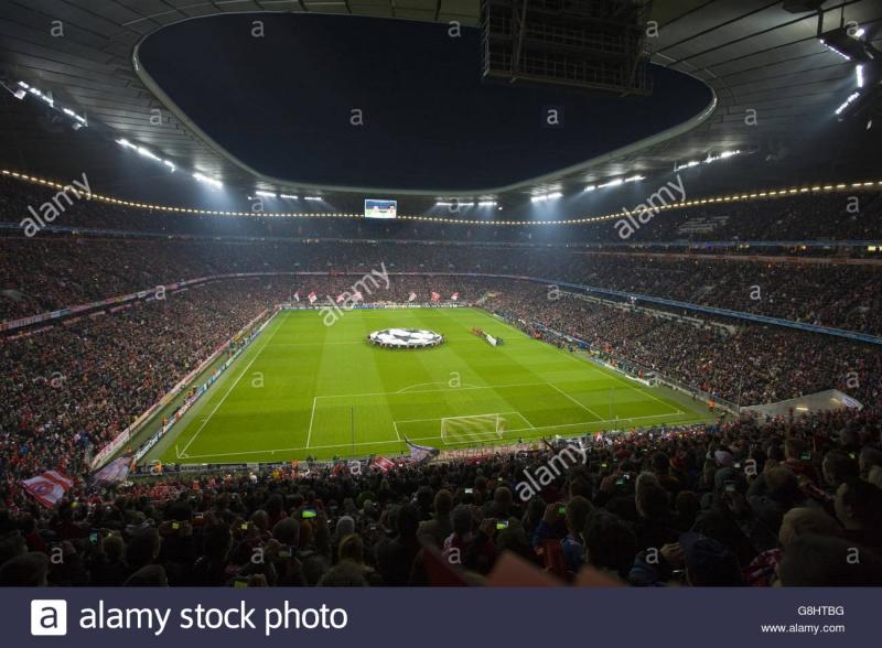 Một góc khán đài của sân Allianz Arena