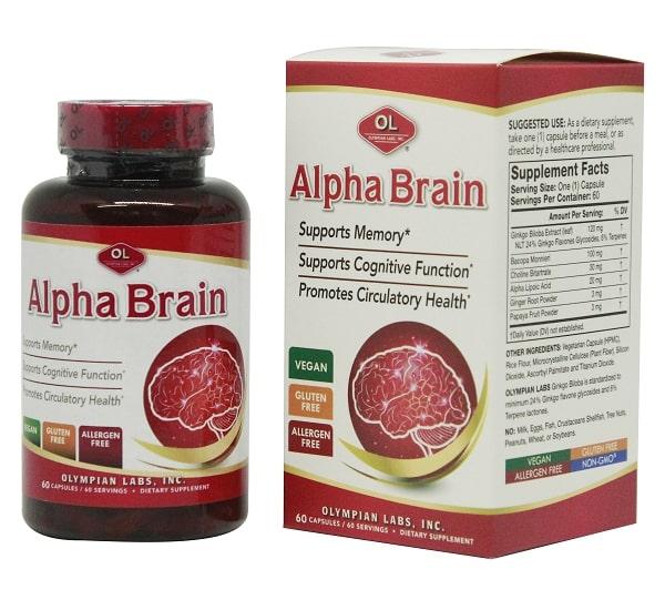 Alpha Brain hiện là sản phẩm tốt nhất trên thị trường thuộc phân khúc bổ não, hỗ trợ tuần hoàn não.