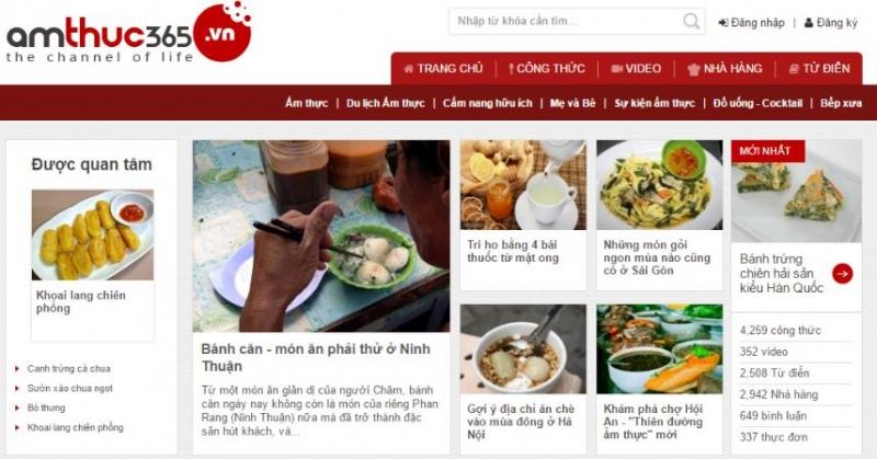 Ẩm thực 365 là trang tổng hợp các thông tin về các công thức nấu ăn và thức uống các loại