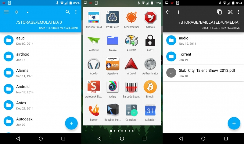 Giao diện Amaze File Manager.