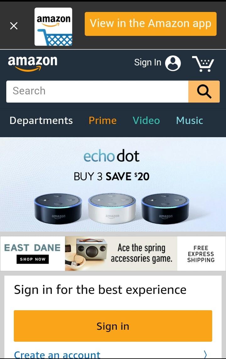 Trang web bán hàng uy tín ở Mỹ AMAZON.