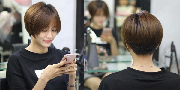 Một mẫu tóc ngắn cá tính ở Amida Hair