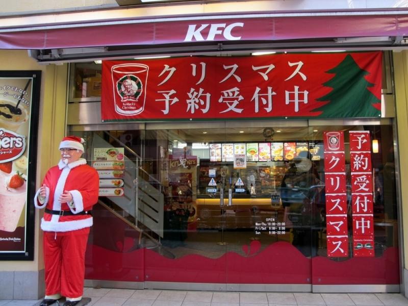 Ăn gà KFC tại Nhật Bản vào dịp Giáng sinh