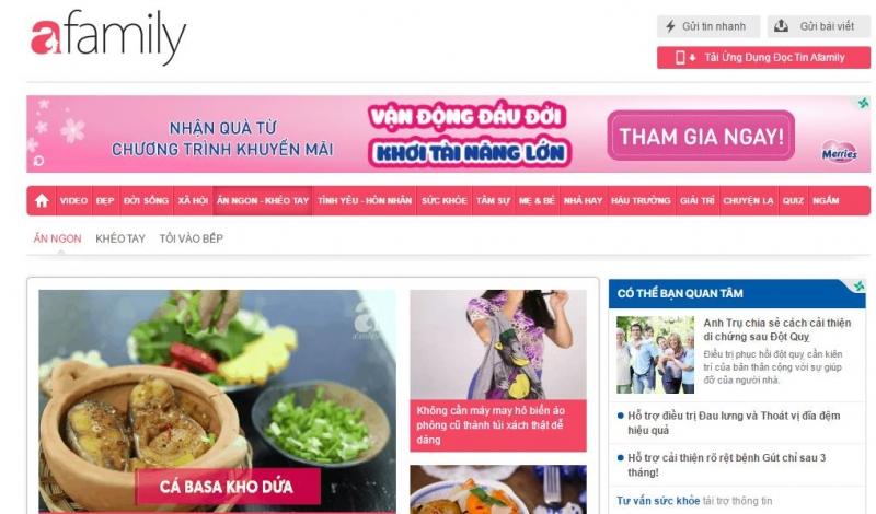 Ăn ngon là một chuyên mục đặc biệt thuộc trang website dành cho các chị em phụ nữ Afamily.vn