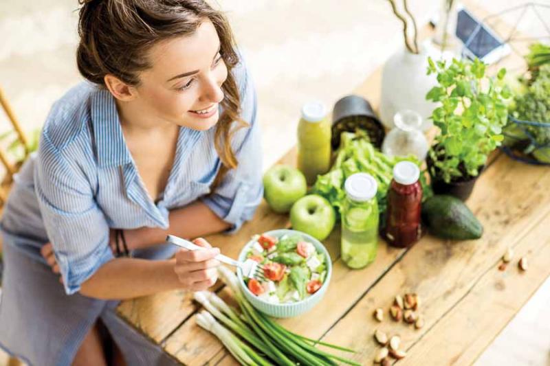 Ăn nhiều thực phẩm lành mạnh tốt cho quá trình trao đổi chất