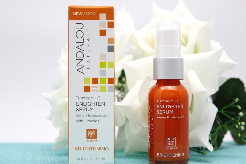 Andalou Naturals Turmeric + C Enlighten Serum cũng là một sản phẩm chăm sóc da nổi tiếng với sự góp mặt của nghệ trong bảng thành phần.