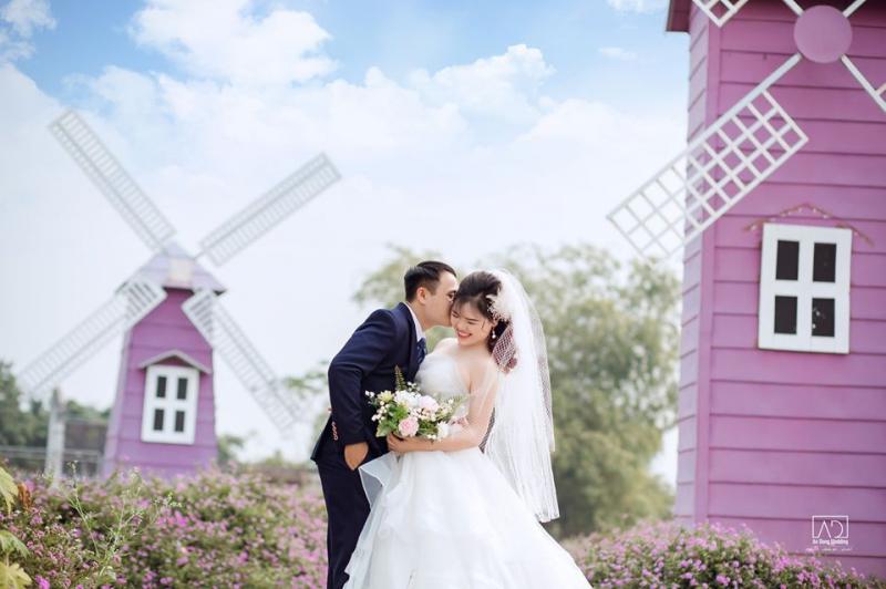 Ảnh cưới được chụp ngoại cảnh ấn tượng