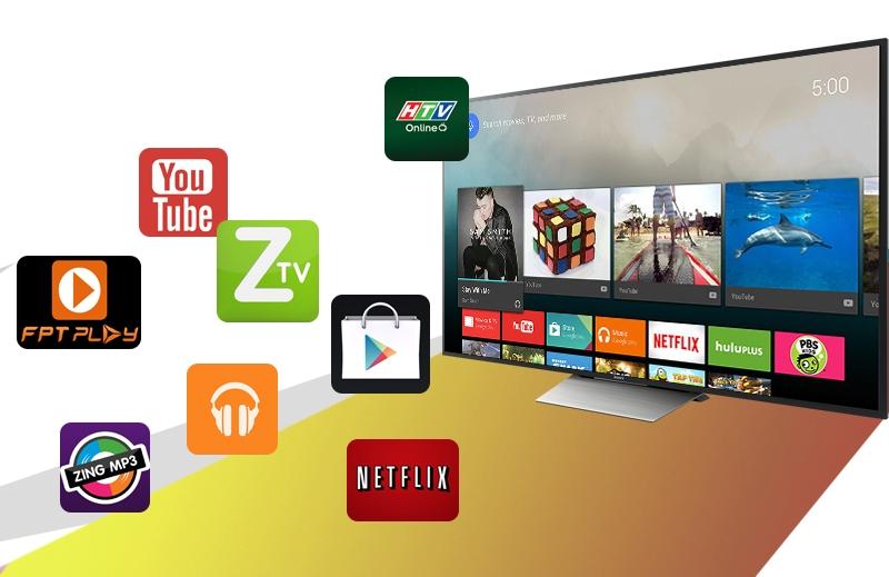 Android tivi Sony 75 inch KD-75X8500D sử dụng hệ điều hành Android dành cho tivi