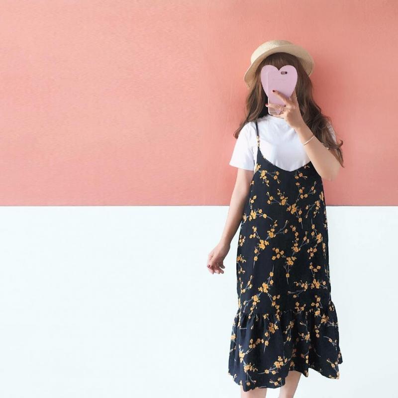 Điệu đà với chiếc váy hoa