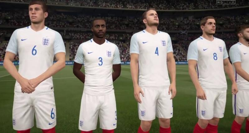 Đội tuyển Anh trong trang phục màu trắng