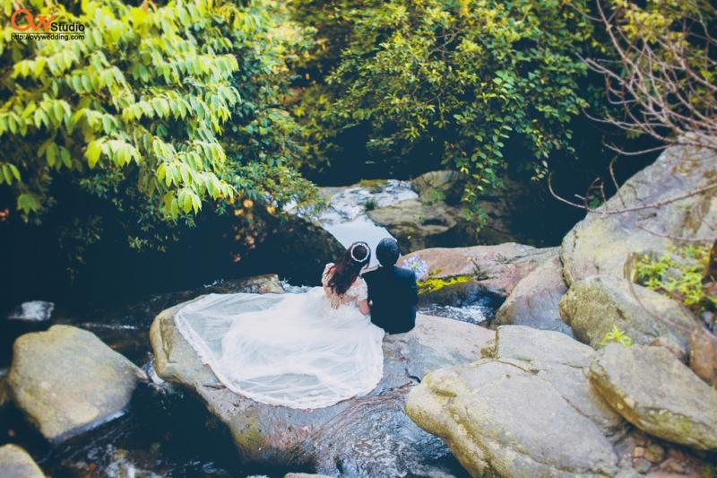 Chụp ảnh cưới tại thác Bạc - Tam Đảo