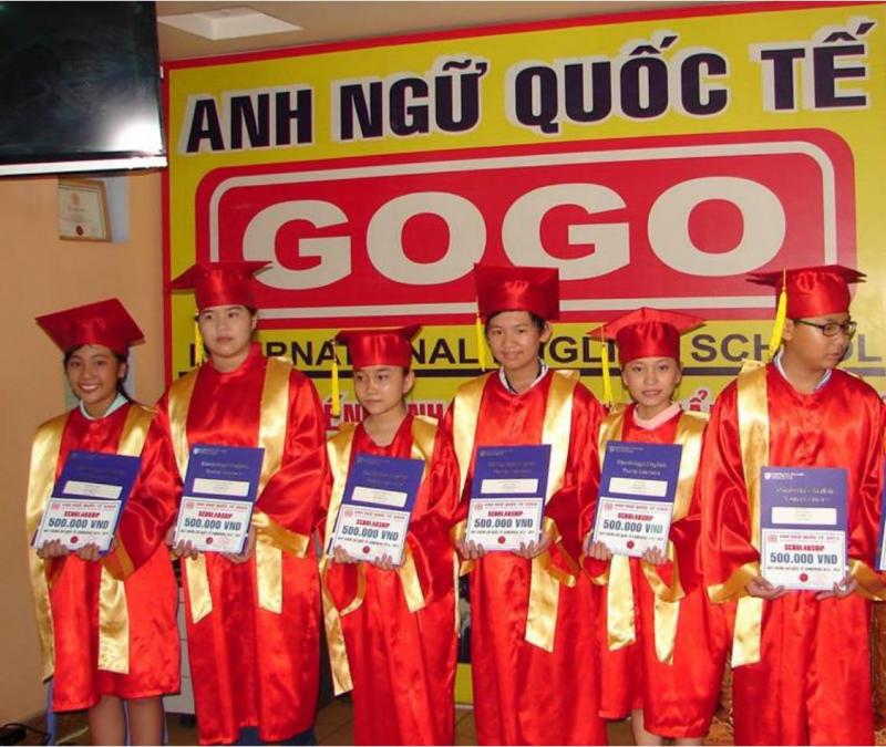 Lễ tốt nghiệp khoá học tại Trung tâm Anh ngữ GOGO'S