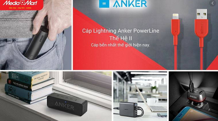 Anker - Đại lý Siêu thị Media Mart