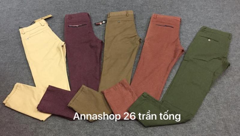 Quần Kaki màu tại Anna Shop có giá là: 280.000 VNĐ