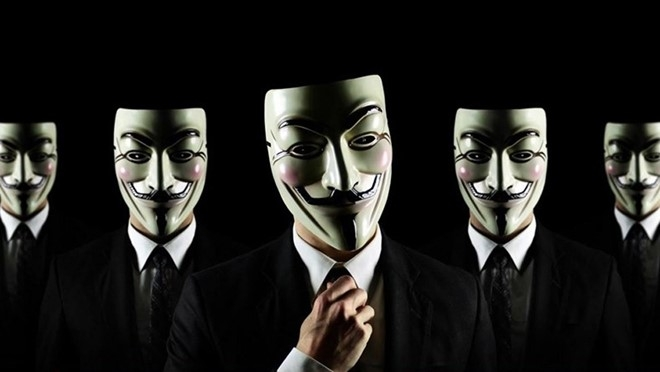 Anonymous nổi tiếng với biểu tượng mặt nạ Guy Fawkes