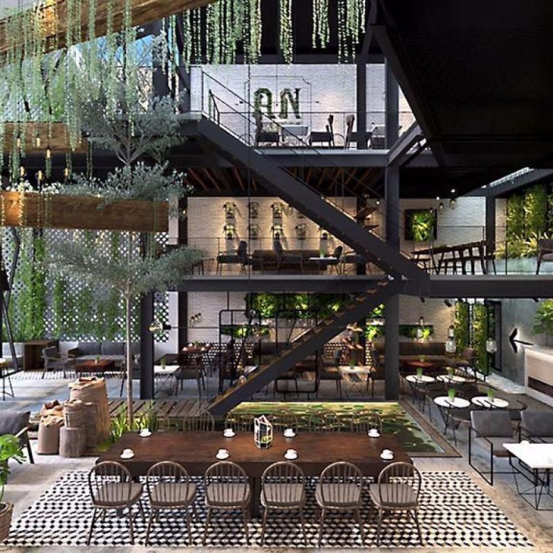 Decor cực kì ấn tượng của An's Garden Café