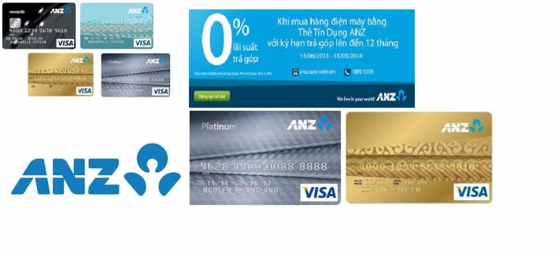 Thẻ tín dụng của ngân hàng ANZ