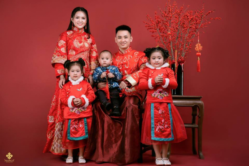 Phong cách chụp ảnh gia đình Trung quốc