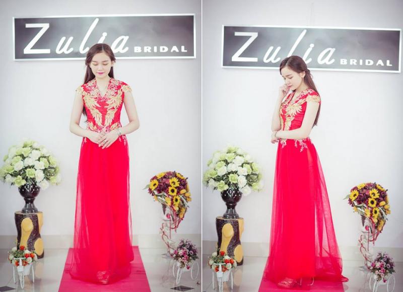 """Các mẫu áo dài tại Áo cưới Zulia là những thiết kế dành cho những cô nàng yêu thích phong cách """"sang chảnh""""."""