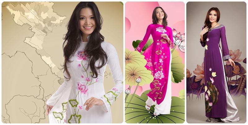 Một số mẫu áo dài đẹp được thiết kế tại Chi Silk