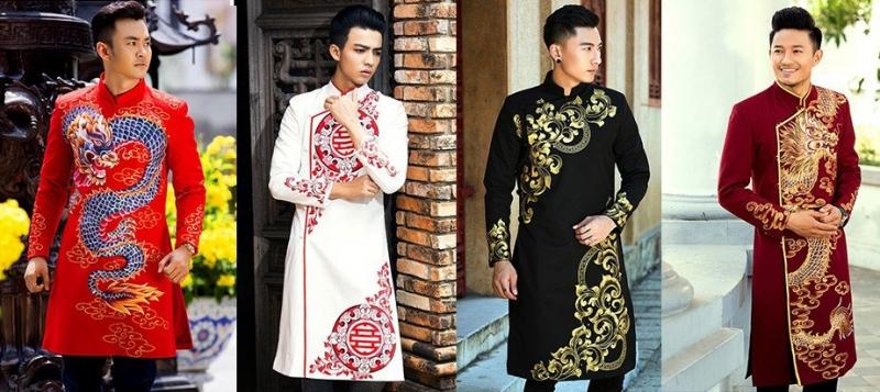 Một số mẫu áo dài nam tại Mỹ Hạnh