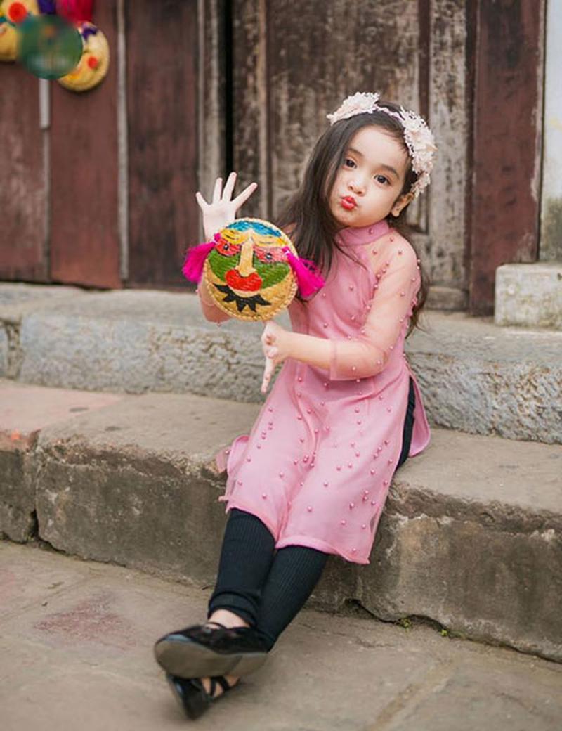 Áo dài trẻ em Thanh Liêm