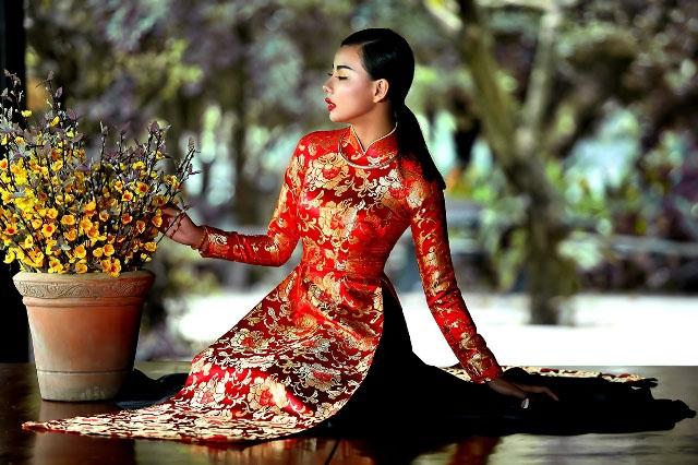 Bậc vua chúa triều đình Việt Nam rất chuộng kiểu áo dài may từ các loại gấm này bởi chúng giúp thể hiện sự sang trọng và quý phái cho người mặc.