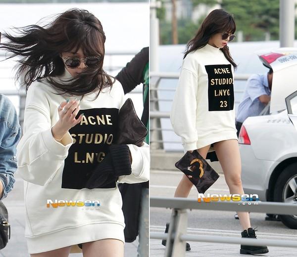Nữ ca sĩ HUYNA vô cùng quyến rũ với style giấu quần