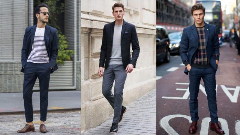 Áo khoác balazer có thể mặc thêm với sơ mi kết hợp quần âu