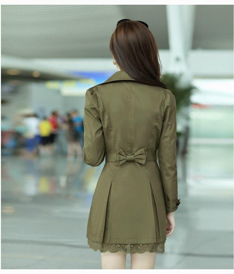 Áo khoác có eo dài vừa phải sẽ giúp định hình khiến vòng 3 đầy đặn hơn. Ảnh minh họa.