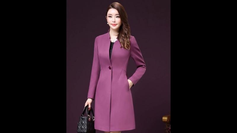 Mẫu áo dạ nữ màu hồng tím hot trend của 2018