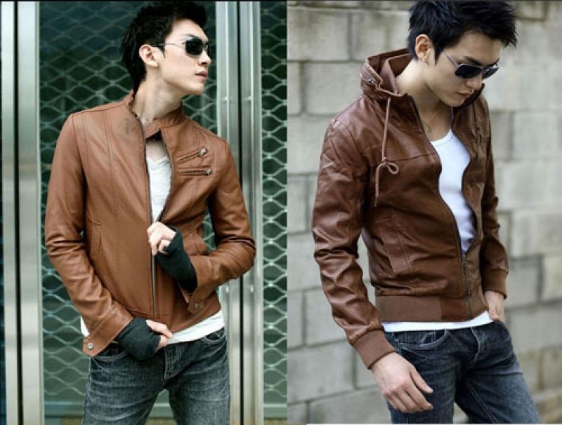 Áo da nam màu da bò cho nét cá tính, mạnh mẽ và nam tính