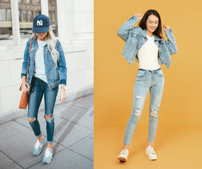 Áo khoác jeans là một items unisex, chính vì thế cả nam và nữ đều có thể diện chiếc áo này theo phong cách riêng của mình.