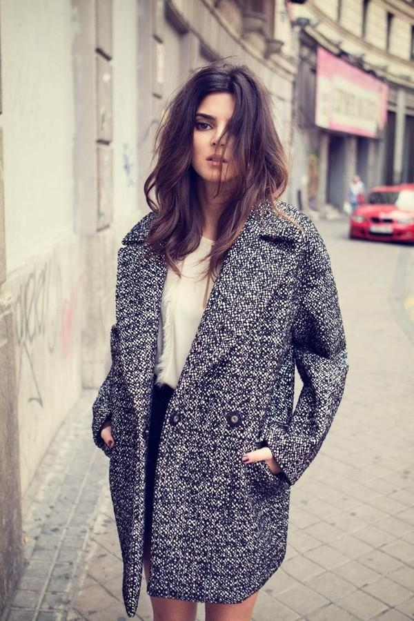 Áo khoác vải tweed
