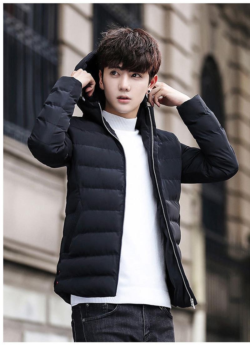 Áo phao nam màu đen cho bạn nam thêm mạnh mẽ