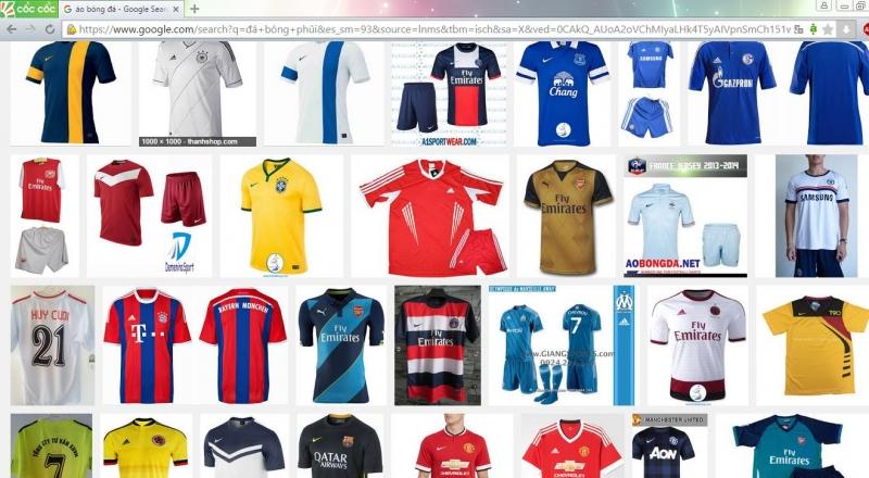 Aobongda.net với đa dạng mẫu mã, màu sắc các loại áo bóng đá