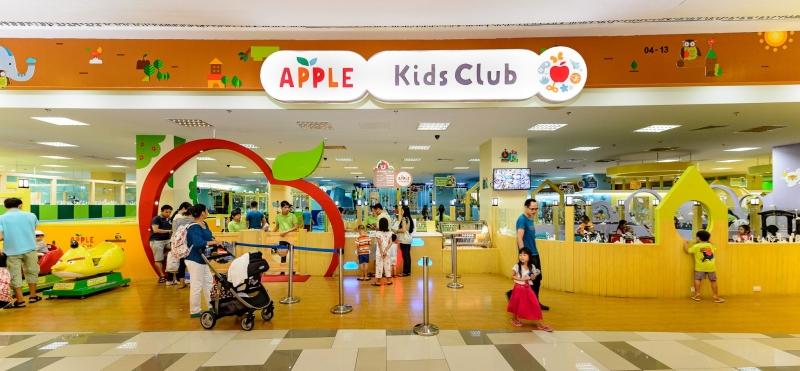 Apple Kids Club tọa lạc tại khu trung tâm thương mại sầm uất bậc nhất