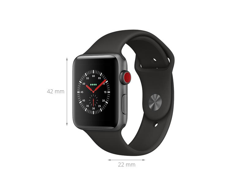 Apple Watch S3 LTE 42mm viền nhôm dây cao su
