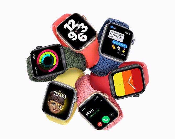 Apple Watch SE (GPS) 40mm - Viền nhôm dây cao su