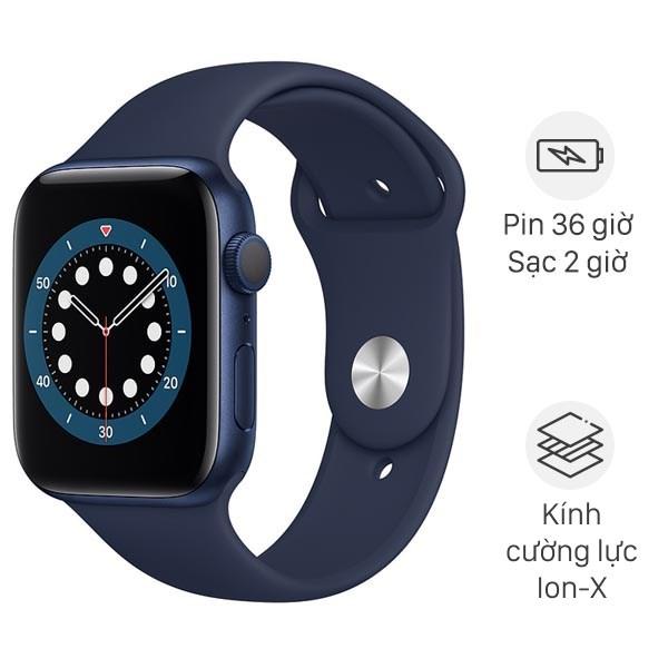 Apple Watch Series 6 GPS + Cellular 40mm viền nhôm dây cao su