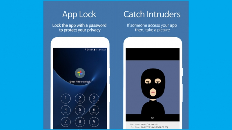 Giao diện khóa của AppLock - Fingerprint