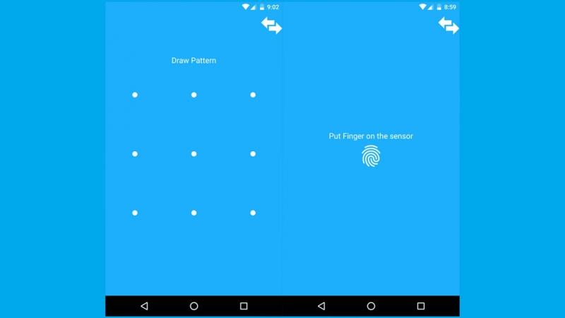 Giao diện sử dụng của AppLock: Fingerprint & Pin