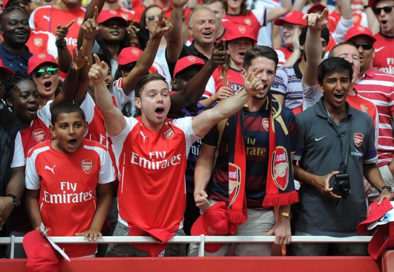 Rất nhiều fan hâm mộ lối chơi đẹp mắt của Arsenal
