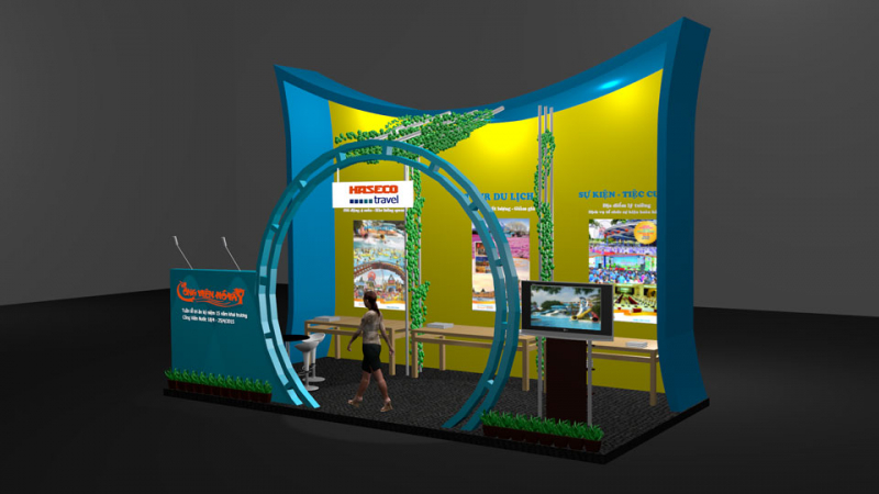 Thiết kế thi công gian hàng triển lãm hội chợ chuyên nghiệp