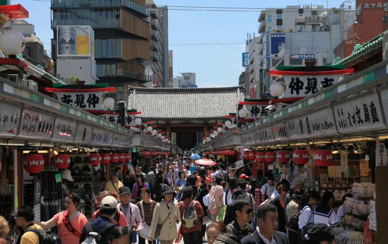 Asakusa là nơi bán, trưng bày các món đồ truyền thống của Nhật